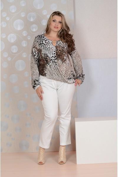 Леопардовая блузка 086 - 56 размер 2 ед.