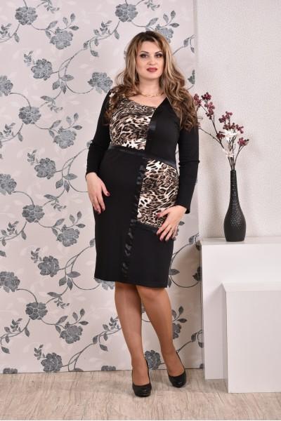 Леопардовое платье 0171 - последний 54р