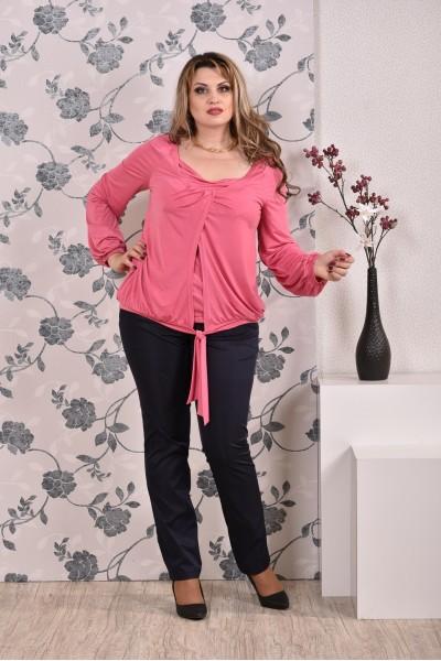 Розовая блузка 0179 - последний 54р
