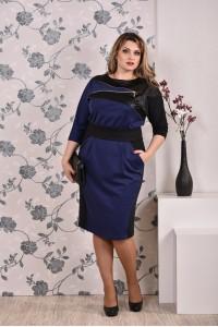 Синее платье 0181 - последний 46р