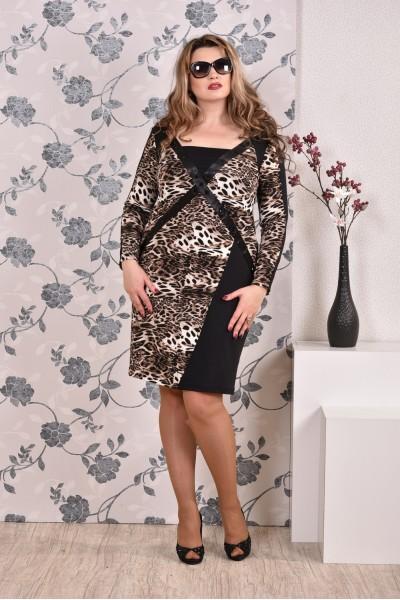 Леопардовое платье 0182 - последний 54р