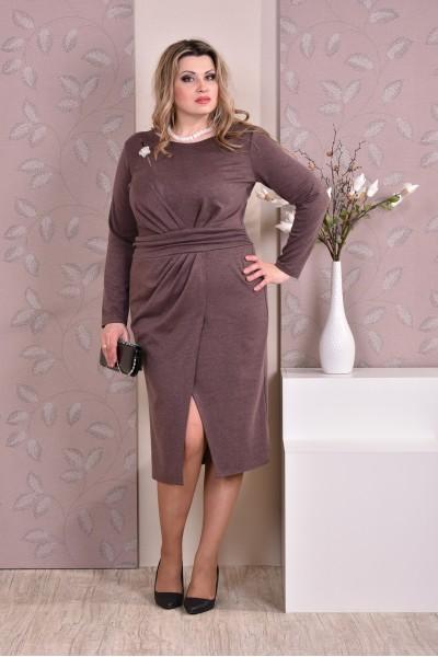 Коричневое платье 0198-1 - последний 50р
