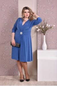 Голубое платье 0205-2