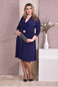 Темно-синее платье 0205-4