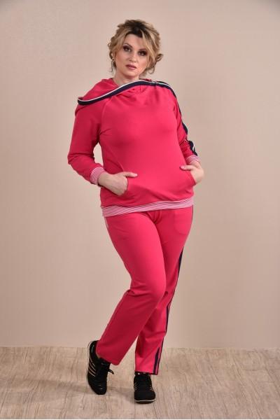 Красный спортивный костюм 0254-2 - последний 54р