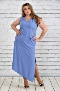 Голубое платье 0299-3
