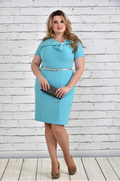 Голубое платье 0322-2 - последний 60р