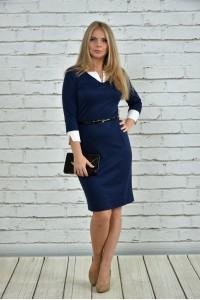 Синее платье 0349-2