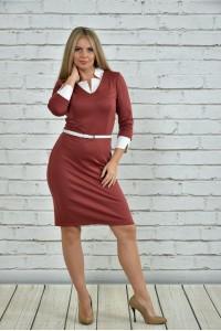 Марсаловое платье 0349-3