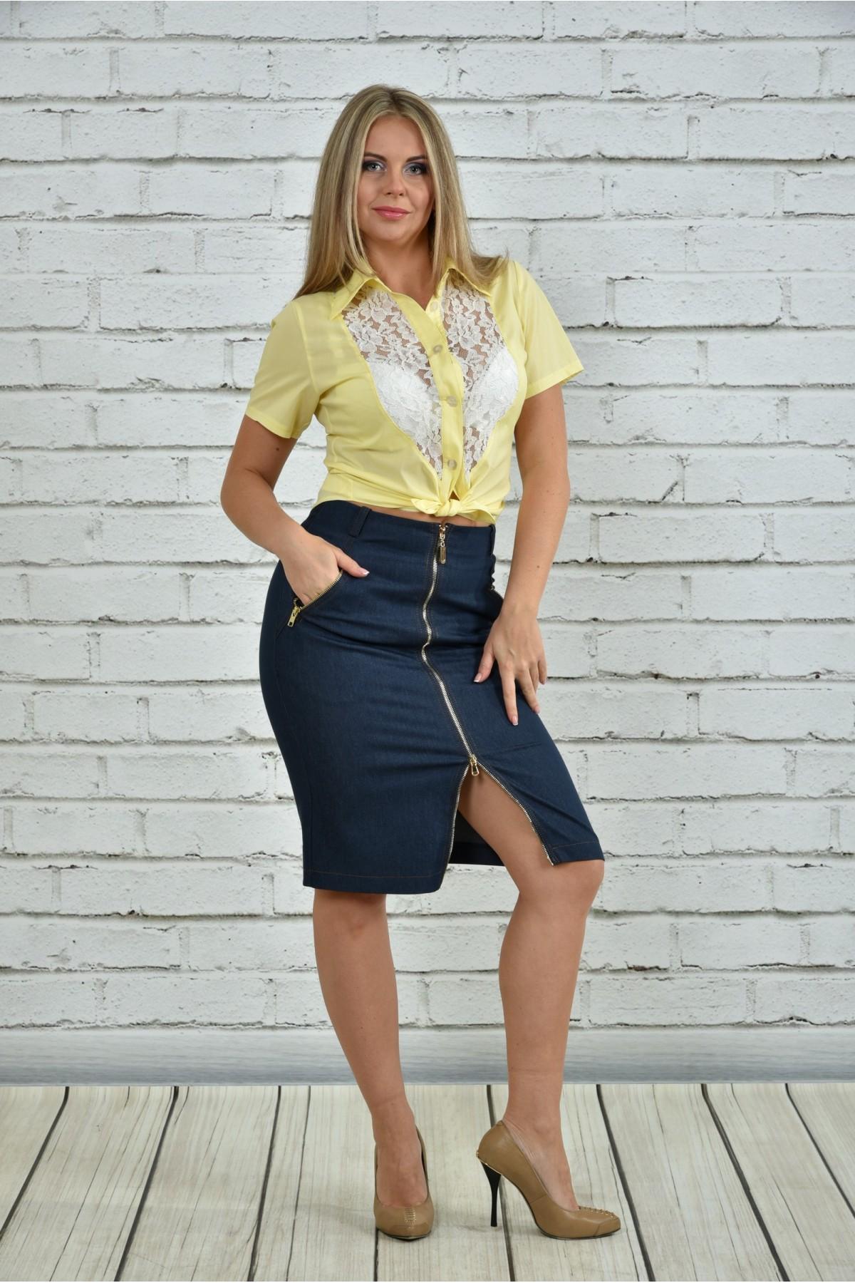 Блузка желтая купить