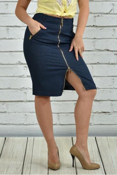 Синяя юбка 0360