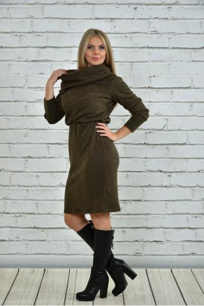 Платье цвета хаки 0367-1
