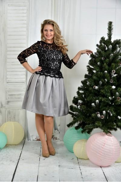 Платье серебро 0386-1