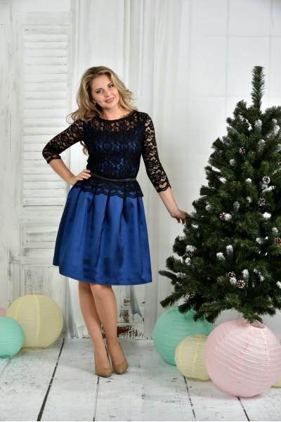 Синее платье 0386-3