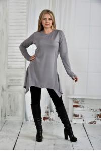 Серая блузка 0406-1