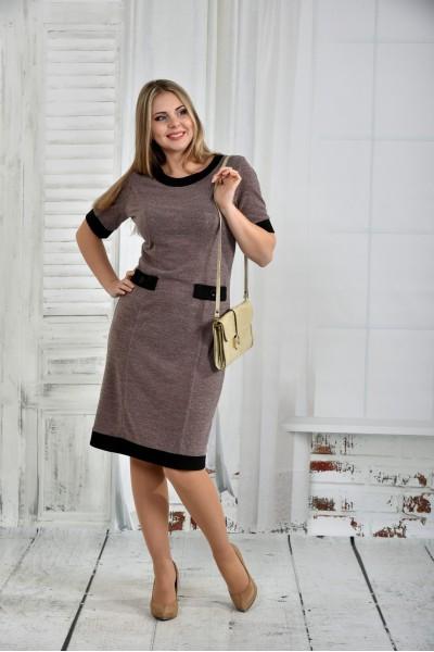 Темно-бежевое платье 0434-1