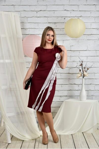 Бордовое платье 0449-3 - послений 66р