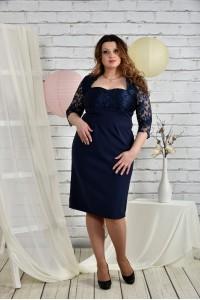 Синее платье 0450-3