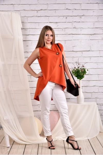 Оранжевая блузка 0465-3 (брюки 010-4 отдельно)