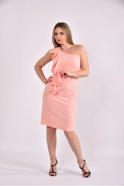 Персиковое платье 0477-2 - последний 44р