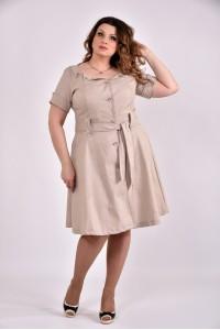 Бежевое платье 0481-2