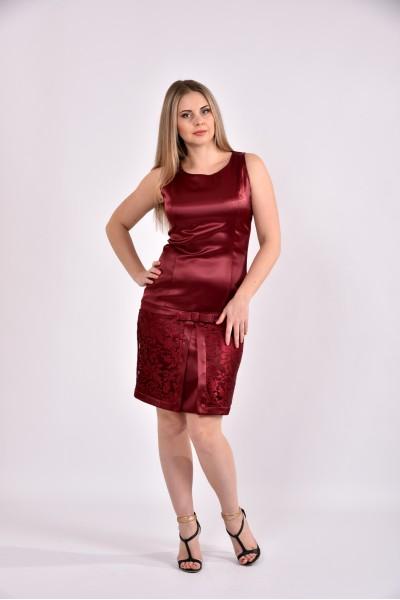 Бордовое платье 0482-1 - последний 44р