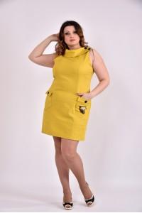 Платье 0486-2 горчица - последний 58р