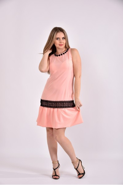 Персик платье 0490-2 - последний 44р