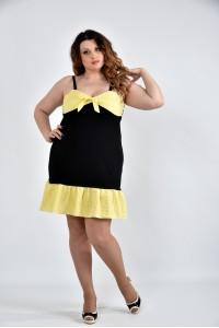 Желтое платье 0499-3 - последний 58р