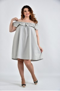 Серая блузка-туника 0501-3
