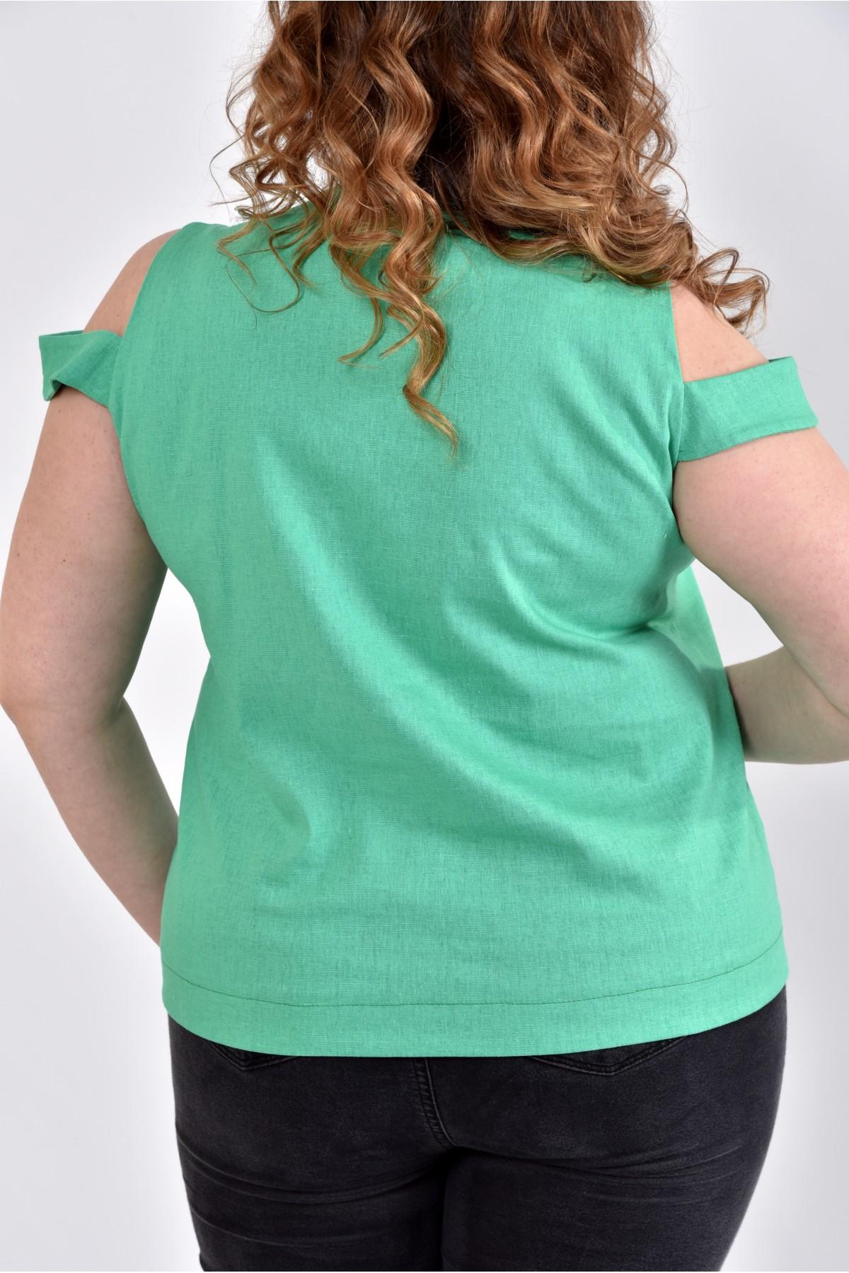 Блузка зеленая купить в