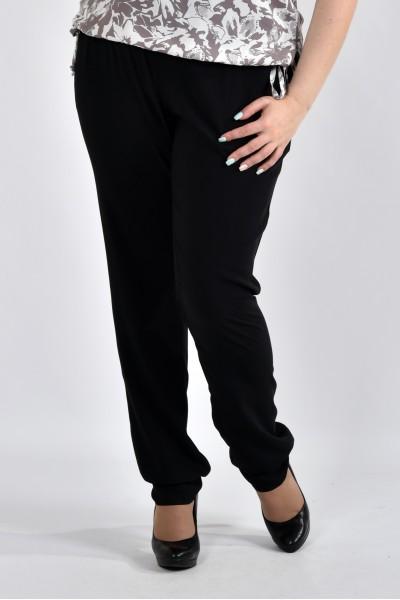 Черные летние брюки б026-1