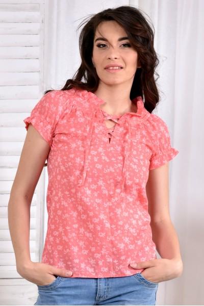 Коралловая блузка 0545-2