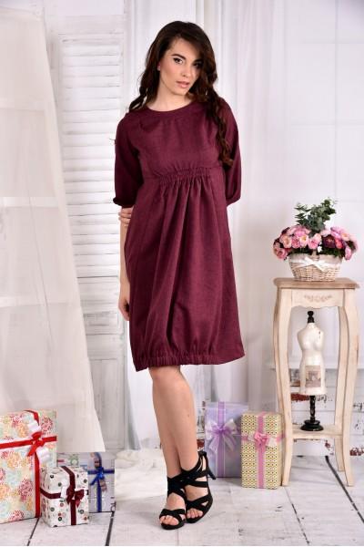 Платье цвета бордо 0549-2
