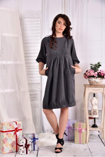 Серое платье 0549-3