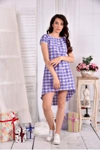 Легкое платье в клетку 0553-3