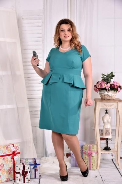 Красивое женское бирюзовое платье 0555-2 - последний 58р