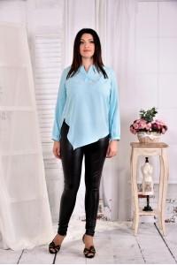 Голубая нарядная блузка 0580-2 (на фото с брюками 011)