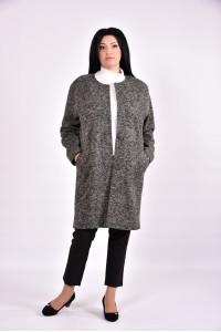 Женское пальто кофе | t0602-3 - последний 54р