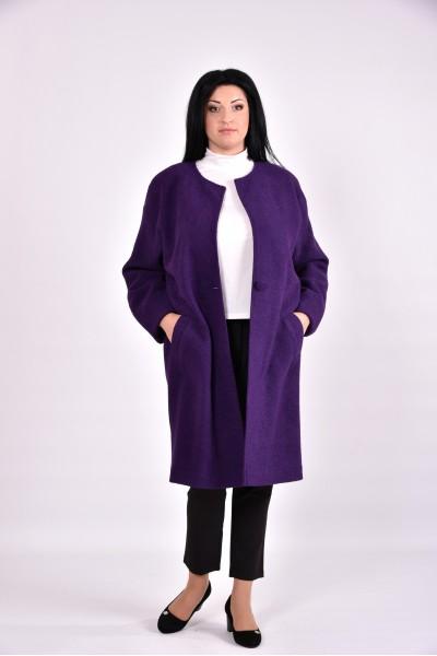 Фиолетовое оригинальное пальто   t0602-5 - последний 54р