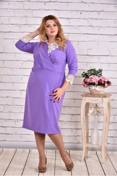 Сиреневое выходное платье   0630-2 - последний 58р