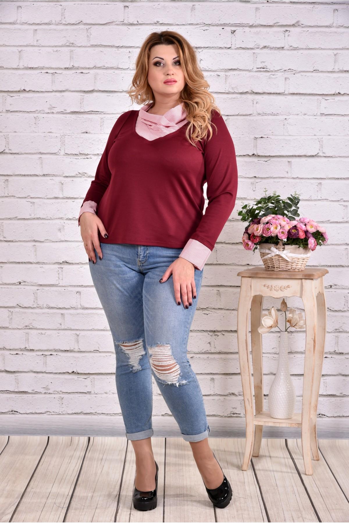 Бордовая блузка | 0636-2