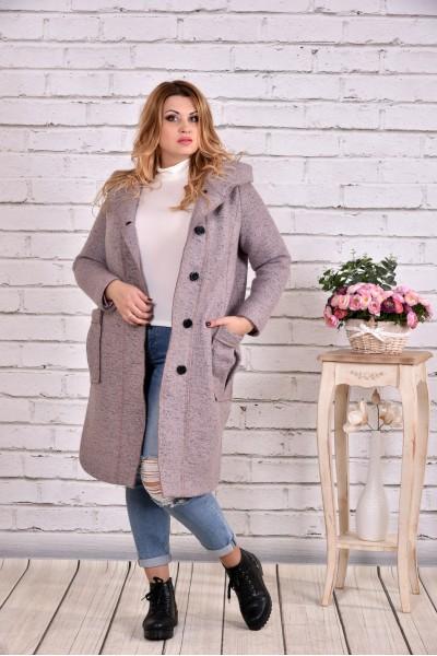 Светлое шерстяное пальто | t0642-3 - последний 58р