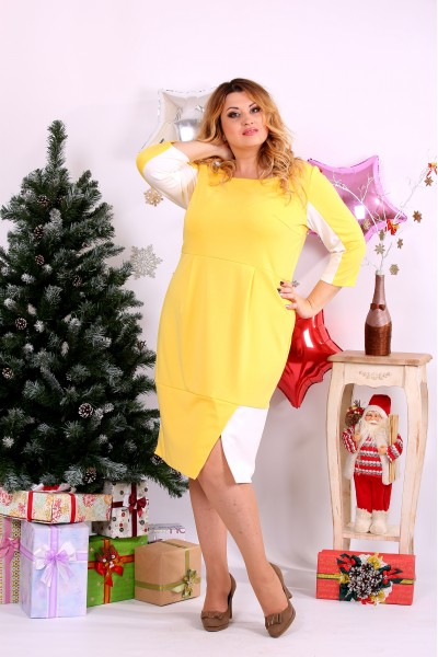 Желтое платье   0667-1 - последний 58р