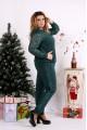 Зеленый костюм двойка из двухнитки | 0670-3