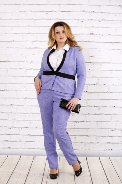 Сиреневый нарядный жакет 0704-3-1 (Идеально сочетаются с брюками 0704-3-2)