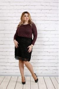 Бордовая блузка из ангоры с люрексом | 0737-2