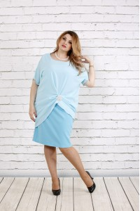 Голубое платье   0745-1