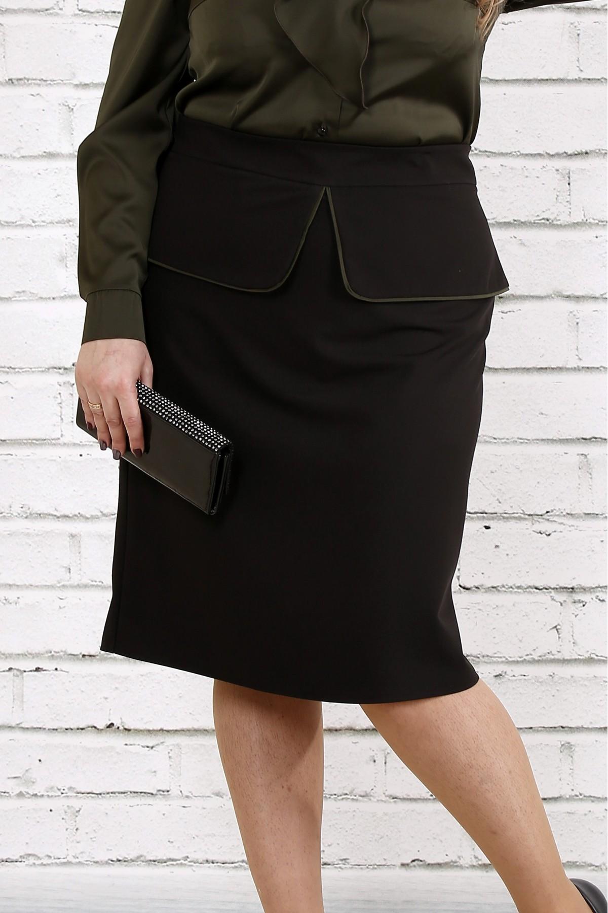 Черная стильная юбка   0749-2