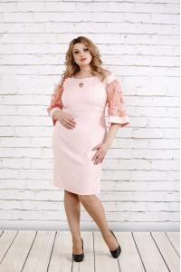 Нежное пудровое платье | 0755-2
